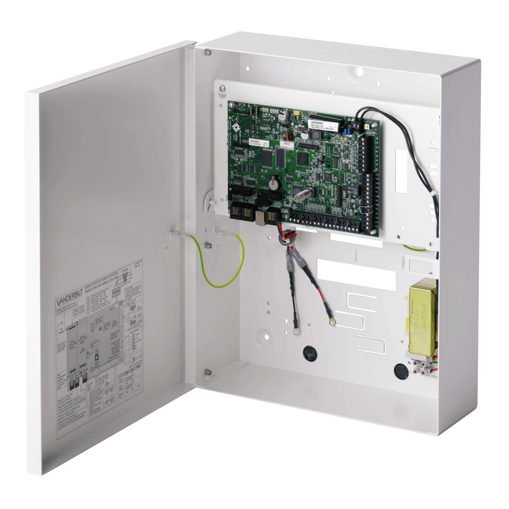 SPC6330 - 512 zone 2,500 user modular intrusion system