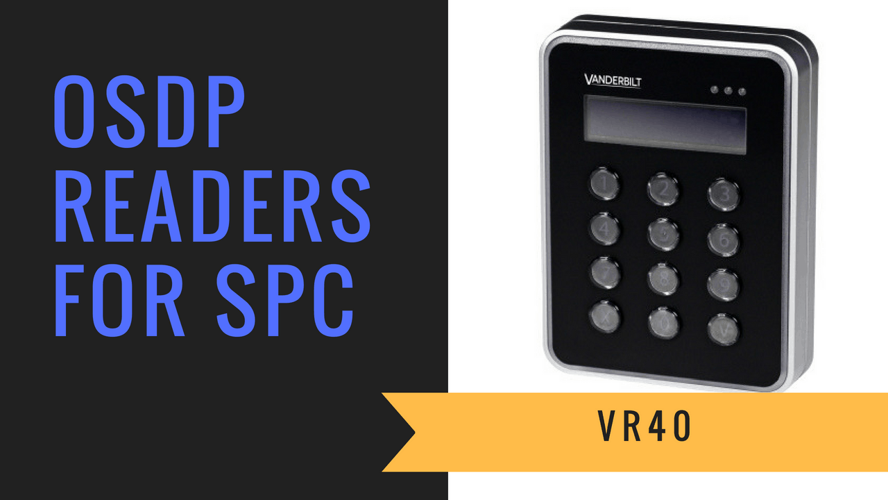 SPC OSDP Converter for VR readers provides compatibly for the VR10 and VR40 readers