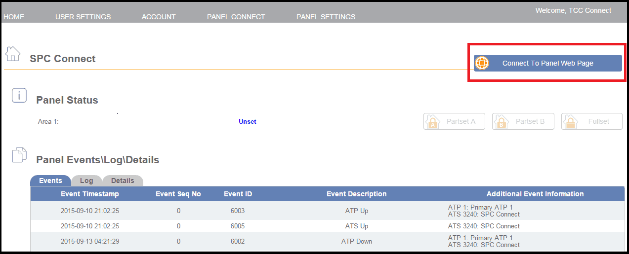 SPC Connect via GPRS Configuration — Vanderbilt SPC