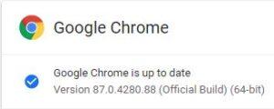 Latest Chrome version